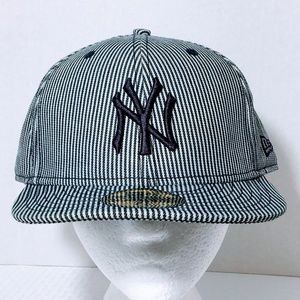 New Era 59Fifty Denim Striped New York Yankees Cap